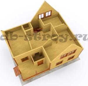 3d визуализация мансардного этажа